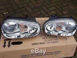 Vw Golf Mk4 Genuine Xenon Headlights / Headlamps R32 V6 Tdi Gti