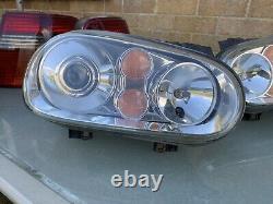 Vw Golf Mk4 R32 Gen2 Xenon Headlights Rare Genuine Gti V5 V6 Tdi Anniversary