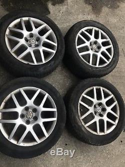 Vw golf mk4 alloys wheels Tyres 16 2 Set Of Four. GT TDI Genuine
